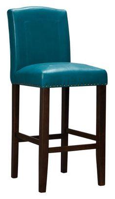 Brianne Teal Bar Stool   Art Van Furniture