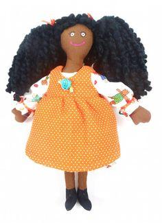 African American Girl Doll  Handmade Toy by JoellesDolls on Etsy