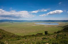The Serengeti and a part of the Ngorongoro Crater