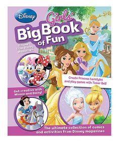 Look at this #zulilyfind! Disney Girls' Big Book of Fun Paperback #zulilyfinds