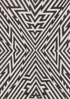 expansion by matthew craven #geometric #illustration #blackwhite #pattern
