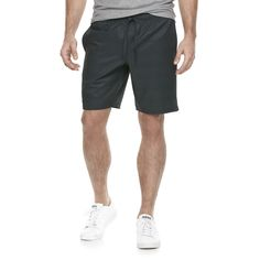 Men's Marc Anthony Slim-Fit Stretch Luxury+ Knit Shorts, Size: 29, Grey (Charcoal)