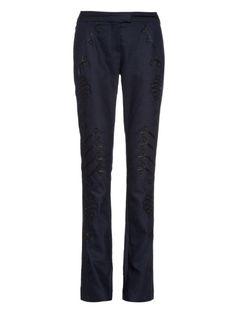 Terrier motif-appliqué twill trousers | Altuzarra | MATCHESFASHION.COM US