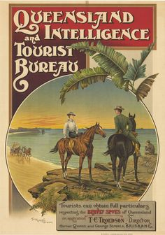 Very old Queensland Intelligence and Tourist Bureau poster! #thisisqueensland