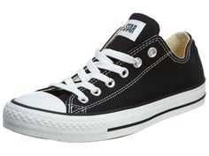Amazon.com: Converse Chuck Taylor All Star Ox Black Unisexm9166 Style: M9166-BLACK Size: 9.5 M US: Shoes