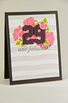 29 And Fabulous! Card by Erin Lincoln for Papertrey Ink (April 2014)