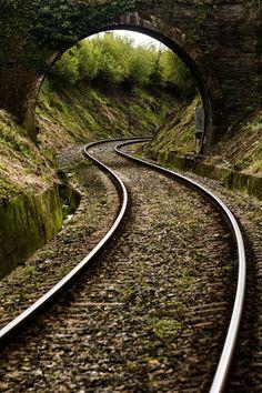 Railway bridge between Ferrol and Betanzos, Galicia, Spain