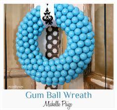 Gumball wreath