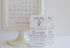 Calendar 2014 Mini Doodle Desk Calendar by lemonadepaperie on Etsy, $9.00