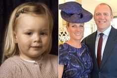 Mia Grace Tindall alongside her parents Zara Phillips and Mike Tindall