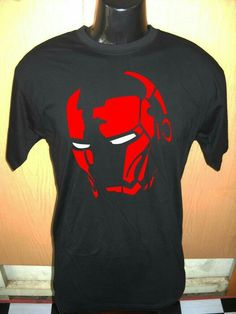 Men's Ring Tshirt Black Tee Shirt All Size and Color Custom Red Marvel Iron Man Head « Custom Geek T Shirt Designs, T Shirt Logo Design, T Shart, Printed Shirts, Tee Shirts, T Shirt Painting, Camisa Polo, Personalized T Shirts, Custom T