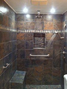 Kennewick WA Bathroom Remodel Custom Walkin Shower With Wood Plank - Bathroom remodeling jackson mi