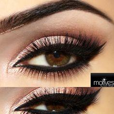.@lvglamduo | Here's a close up! Eyebrows- @anastasiabeverlyhills dark brown Eyes- @Iliana Solis... found on Polyvore