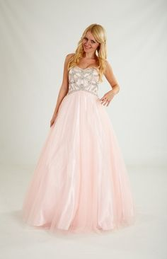 An adorable pink prom dress by Crystal Breeze of London