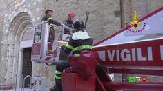 Vigili del Fuoco - Camerino - Prosecuzione lavori al Tempio di San Franc...