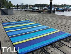 Epätasaraitaa Finland, Beach Mat, Outdoor Blanket, How To Make, Handmade, Weaving, Hand Made, Arm Work