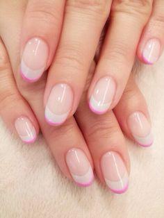 Pink & grey nail