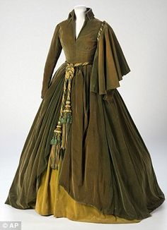 This undated photo provided by the Harry Ransom Center shows the conserved green curtain dress worn by Vivien Leigh as Scarlett O'Hara in