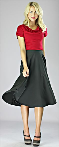 Crepe Skirt Mid Length [W2402] - $39.99 : Mikarose Fashion, Reinventing Modest Fashion