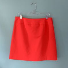 """LIKE NEW Ann Taylor Red Skirt LIKE NEW Ann Taylor Red Skirt // sz 10 // waist is 17"""" laid flat / length 19"""" // 98% cotton, 2% spandex / 100% polyester lining // Side zipper // flattering band around the waist //Great quality material // this is a great piece for the office! // non-smoking home ........ 20% off 2+ Bundles // Same Day or Next Day Shipping!!  3.22.26 Ann Taylor Skirts Midi"""