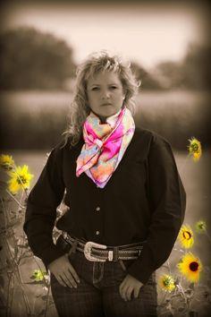 """Heather's Wild Side Tie Dye.  A great """"Pop"""" of color.  www.heatherswildrags.com"""