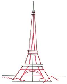 One of the world's most beloved landmarks, the Eiffel Tower dazzles with its intricate construction. This drawing might look complex, but our steps make it simple.