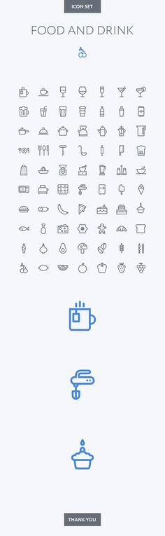 Food and Drink icon set on Behance