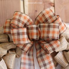 How to make a big bow for a wreath out of ribbon