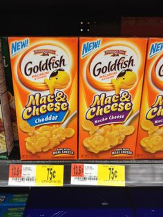 Walmart: Goldfish Mac & Cheese only $.48 each! Coupon Reset!
