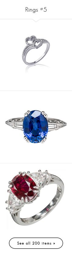 """""""Rings #5"""" by rosecoulson ❤ liked on Polyvore featuring jewelry, rings, accessories, sterling silver heart jewelry, diamond jewelry, sterling silver jewelry, heart shaped rings, zales, blue and blue sapphire engagement rings"""