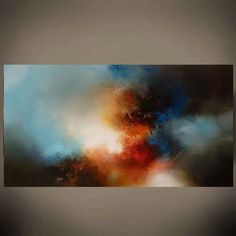 Large Canvas Abstract Painting by Artist por SimonkennysPaintings