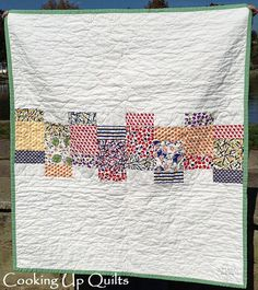 """""""Looking Glass"""" quilt back - made by Beth / Cooking Up Quilts blog;  pattern by Cheryl of Meadow Mist Designs"""