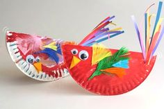 Jackie and the kids make colourful paper plate birds to ring in spring! Theyu0027 & Paper Plate Bird Craft for Kids - Easy and SO Cute! | Pinterest ...