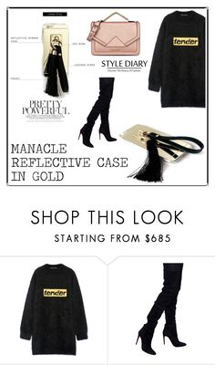 """""""SHOP - Brass Paper Smith"""" by ladymargaret ❤ liked on Polyvore featuring Alexander Wang, Balmain and Karl Lagerfeld"""