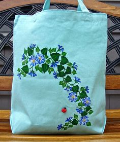 ON SALE-Use coupon BAGS50 to save-Hand Painted by ipaintitpretty