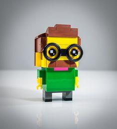 "Ned Flanders Brickhead | ""Hi-diddly-ho, neighborino!"" While … | Flickr Legos, Lego Moc, Lego Lego, Lego Simpsons, Ned Flanders, Lego Sculptures, Lego Activities, Lego People, Game Room Design"