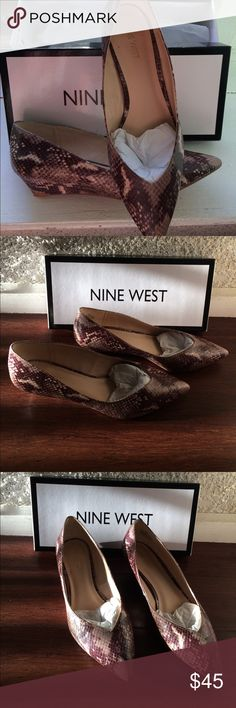 Nine West brown snakeskin shoes Size 8m Nine West Shoes Espadrilles