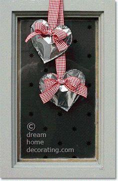 DIY Valentine Door Decorations To Make: Shiny Silver Valentine Heart