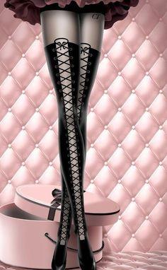 Chantal Thomass lace up panty hose :)