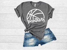 Basketball Panthers High School SVG. T-Shirt Design for Panthers Team e9a09d771bc3b