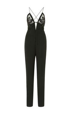 Silk Crepe V-Neck Jumpsuit by J. Mendel for Preorder on Moda Operandi