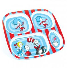 Melamine Divided Plate Cat in the Hat