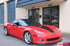 Call CWD for a quote or visit our website www.cwdwrap.com #cwdwrap #corvette #car #cwd #cars #carbon #carwrap #blackroof #wrap #wraps #wrapping #wrapmatte #carwrap #carwrapmiami #miami #matte