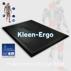 How to solve problems with ergonomics. Boost employee well being with a collection of anti-fatigue mats for industrial workstations.    #kleentex #makemoreofyourfloor #wellbeing    https://www.kleen-tex.co.uk/products/commercial-and-industrial/health-and-safety-mats/kleen-ergo/