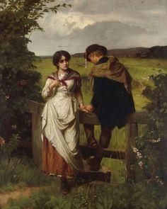 William Holyoake (British, 1834-1894) - Girl I Left Behind Me, 1880