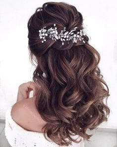 gorgeous half up half down hairstyles that perfect for a rustic wedding 9 ~. , - gorgeous half up half down hairstyles that perfect for a rustic wedding 9 ~… , gorgeous half up half down hairstyles that perfect for a rustic wedding 9 ~… , Wedding Hairstyles Half Up Half Down, Half Up Half Down Hair, Wedding Hair Down, Wedding Hairstyles For Long Hair, Wedding Hair And Makeup, Bride Hairstyles, Down Hairstyles, Gorgeous Hairstyles, Hairstyles For Dresses