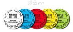 NEN 3140 stickers 33 mm.