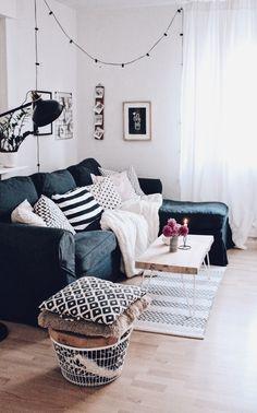 DIY Couchtisch selber bauen. Wohnzimmer im skandinavischen Stil. DIY Möbel und Wohnen.