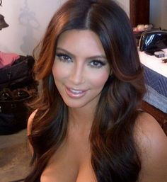 hair color ideas for brunettes | Kim Kardashian's New Hair Color: Can You Notice The Difference? (PHOTO ...