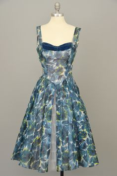 Will Steinman 1950s Retro Print Vintage Party Prom Dress from VintageVirtuosa